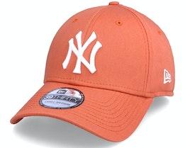 New York Yankees League Essential 39THIRTY Fur Orange/White Flexfit - New Era
