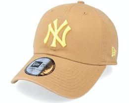 New York Yankees League Essential 9TWENTY Wheat/Yellow Dad Cap - New Era