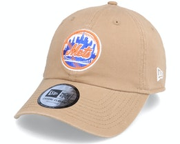 New York Mets League Essential 9TWENTY Wheat Dad Cap - New Era