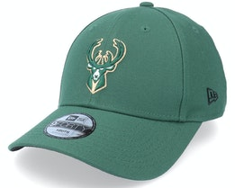 Kids Milwaukee Bucks 9FORTY The League Green Adjustable - New Era