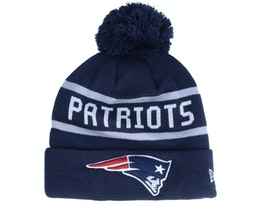 New England Patriots Jake Cuff Knit Osb Navy Pom - New Era
