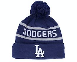 Los Angeles Dodgers Jake Cuff Knit Dry Royal Pom - New Era