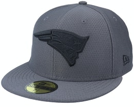New England Patriots Hex Tech 59FIFTY Grey/Black Fitted - New Era