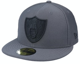 Las Vegas Raiders Hex Tech 59Fifty Grey/Black Fitted - New Era