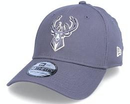 Milwaukee Bucks Gray Pop 39THIRTY Grey Flexfit - New Era