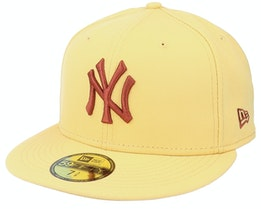 New York Yankees League Essential 59FIFTY Yellow/Brown Fitted - New Era