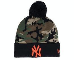 Kids New York Yankees Camo Crown Cuff Knit Pom - New Era