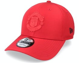 Manchester United Rubber Patch 9FORTY Scarlet Adjustable - New Era