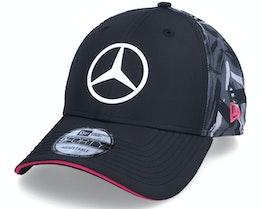 Mercedes Replica Rear 9FORTY Black/Grey Adjustable - New Era