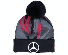 Mercedes Replica AOP Bobble Knit Black/Pink Pom - New Era