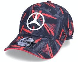 Mercedes Replica AOP 9FORTY Black/Pink Adjustable - New Era