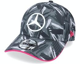 Mercedes Replica AOP 9FORTY Black/Grey Adjustable - New Era