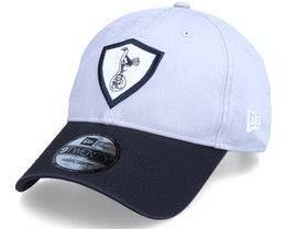 Tottenham Hotspur Felt Patch 9TWENTY Grey/Black Dad Cap - New Era