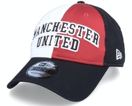 Manchester United Cotton Satin 9TWENTY Black/Scarlet/White Adjustable - New Era