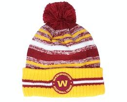 Washington Football Team NFL21 Sport Knit Cardinal/Yellow Pom - New Era