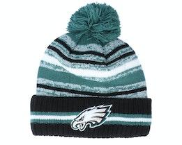 Philadelphia Eagles NFL21 Sport Knit Teal/Black Pom - New Era