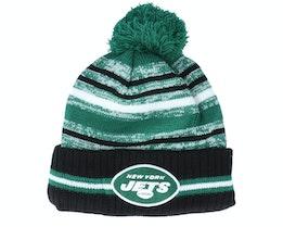 New York Jets NFL21 Sport Knit Green/Black Pom - New Era