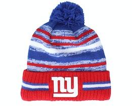 New York Giants NFL21 Sport Knit Blue/Red Pom - New Era