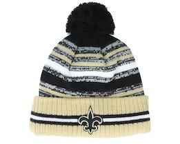 New Orleans Saints NFL21 Sport Knit Black/Natural Pom - New Era