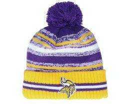 Minnesota Vikings NFL21 Sport Knit Purple/Yellow Pom - New Era