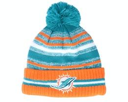 Miami Dolphins NFL21 Sport Knit Teal/Orange Pom - New Era
