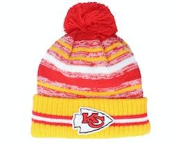 Kansas City Chiefs NFL21 Sport Knit Red/Yellow Pom - New Era