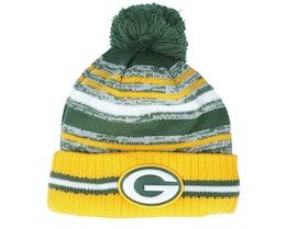 Green Bay Packers NFL21 Sport Knit Green/Yellow Pom - New Era