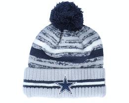 Dallas Cowboys NFL21 Sport Knit Navy/Grey Pom - New Era