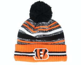 Cincinnati Bengals NFL21 Sport Knit Black/Orange Pom - New Era
