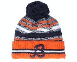 Chicago Bears NFL21 Sport Knit Navy/Orange Pom - New Era