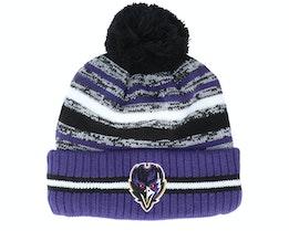 Baltimore Ravens NFL21 Sport Knit Black/Purple Pom - New Era