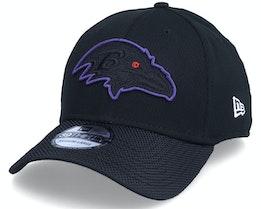 Baltimore Ravens 39THIRTY NFL21 Side Line Black Flexfit - New Era