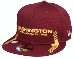 Washington Football Team NFL21 Side Line 9FIFTY Maroon Snapback - New Era