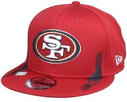 New York Giants NFL21 Side Line 9FIFTY Red Snapback - New Era