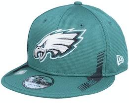 Philadelphia Eagles NFL21 Side Line 9FIFTY Green Snapback - New Era