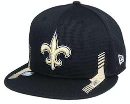 New Orleans Saints NFL21 Side Line 9FIFTY Black Snapback - New Era