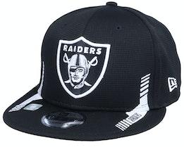 Las Vegas Raiders NFL21 Side Line 9FIFTY Black Snapback - New Era