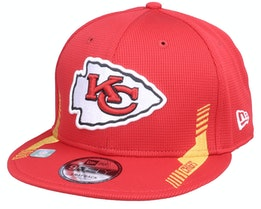 Kansas City Chiefs NFL21 Side Line 9FIFTY Red Snapback - New Era