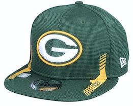 Green Bay Packers NFL21 Side Line 9FIFTY Green Snapback - New Era