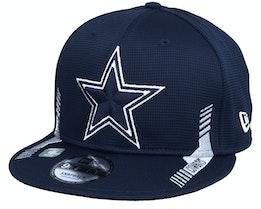 Dallas Cowboys NFL21 Side Line 9FIFTY Navy Snapback - New Era