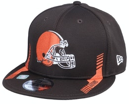 Cleveland Browns NFL21 Side Line 9FIFTY Brown Snapback - New Era