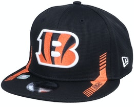 Cincinnati Bengals NFL21 Side Line 9FIFTY Black Snapback - New Era