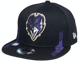 Baltimore Ravens NFL21 Side Line 9FIFTY Black Snapback - New Era