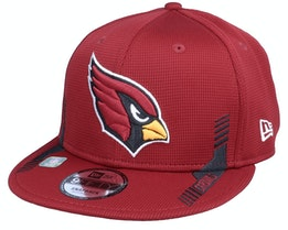 Arizona Cardinals 9FIFTY NFL21 Side Line Red Snapback - New Era