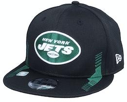 New York Jets NFL21 Side Line 9FIFTY Black Snapback - New Era
