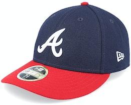 Atlanta Braves MLB Low Profile 59Fifty Authentic Navy/Red - New Era