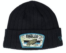 Philadelphia Eagles NFL21 Salute To Service Knit Black/Camo Cuff - New Era