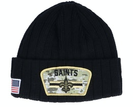 New Orleans Saints NFL21 Salute To Service Knit Black/Camo Cuff - New Era