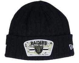 Las Vegas Raiders NFL21 Salute To Service Knit Black/Camo Cuff - New Era