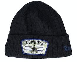 Dallas Cowboys NFL21 Salute To Service Knit Black/Camo Cuff - New Era